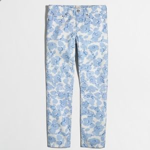 J. Crew Factory Ankle Floral Skinny Jeans